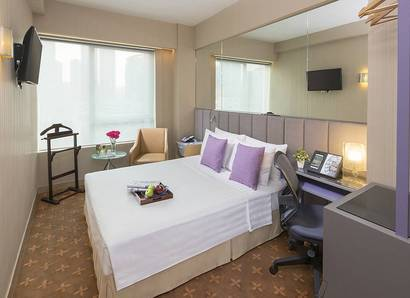 Deluxe Room: The Deluxe Room has a dynamic city view to enjoy