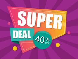 Super Deal 40% Off