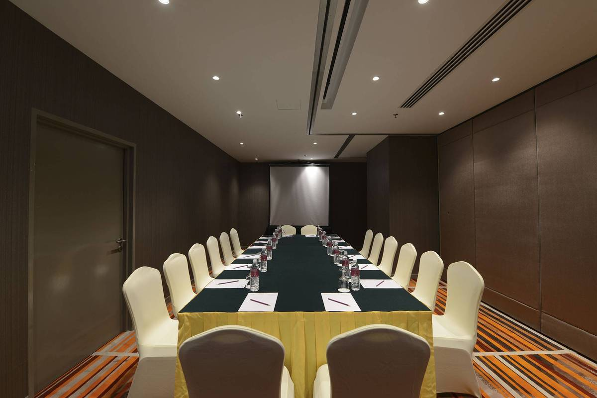 Meeting Boardroom Set-up:  Meetings in the Cheras Room arranged in boardroom set-up