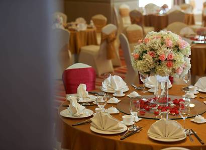 Banquet Wedding Set-up:  Blissful weddings can be had at Silka Cheras, Kuala Lumpur