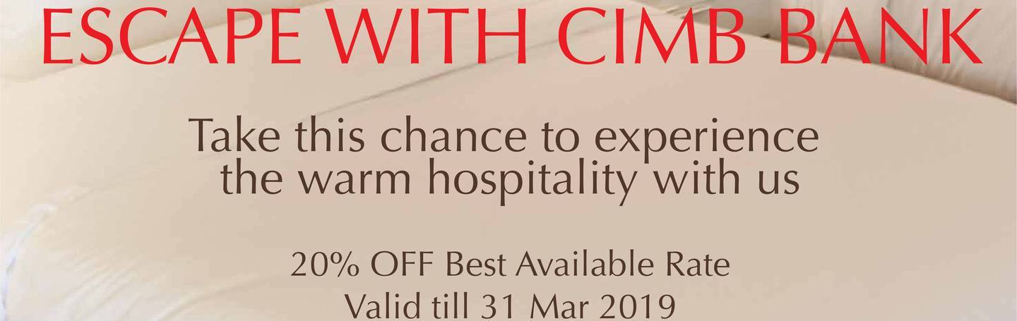 Escape with CIMB Bank
