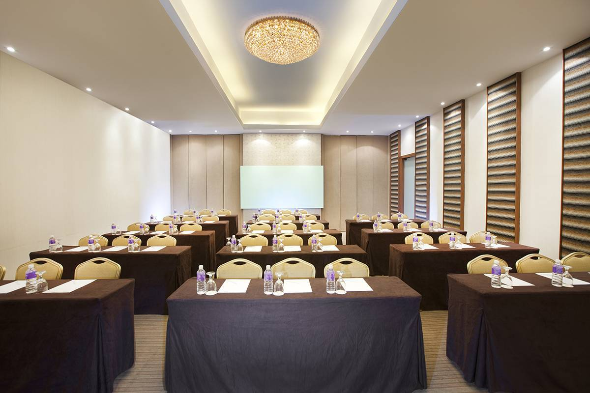 Meeting Room - Classroom Set-up: The Songket meeting room accommodates a variety of seating layouts